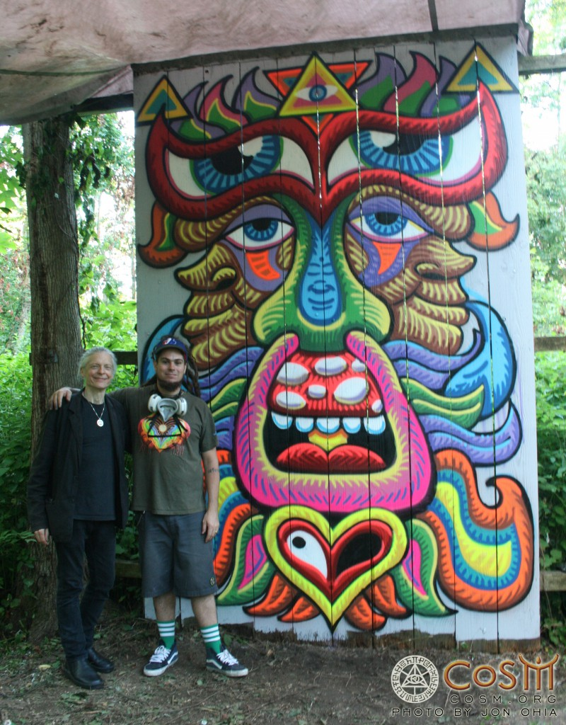 chris dyer with alex mural