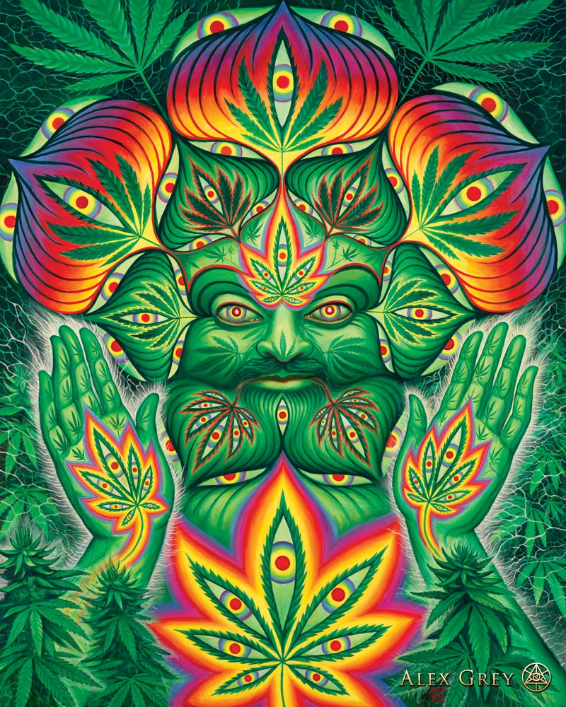 Cannabacchus by Alex Grey