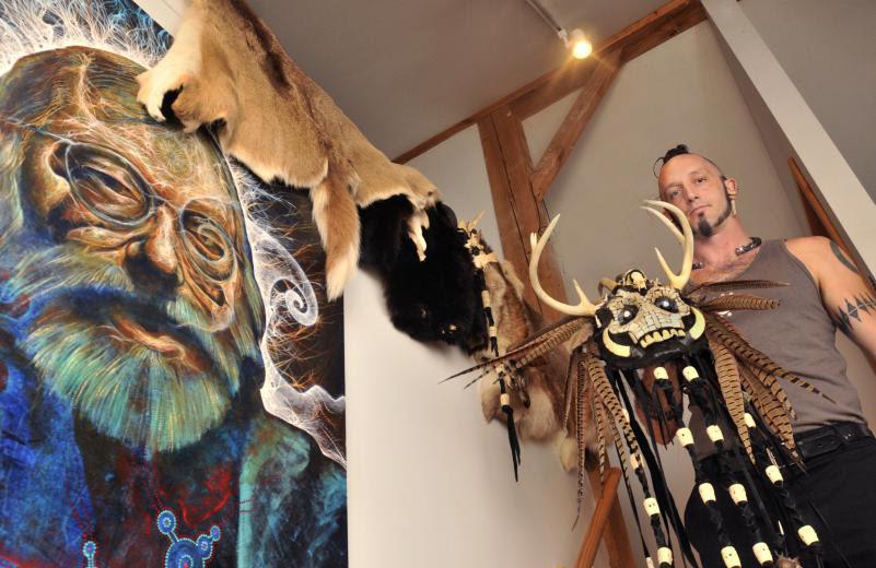 martin bridge paul stammets mask painting art