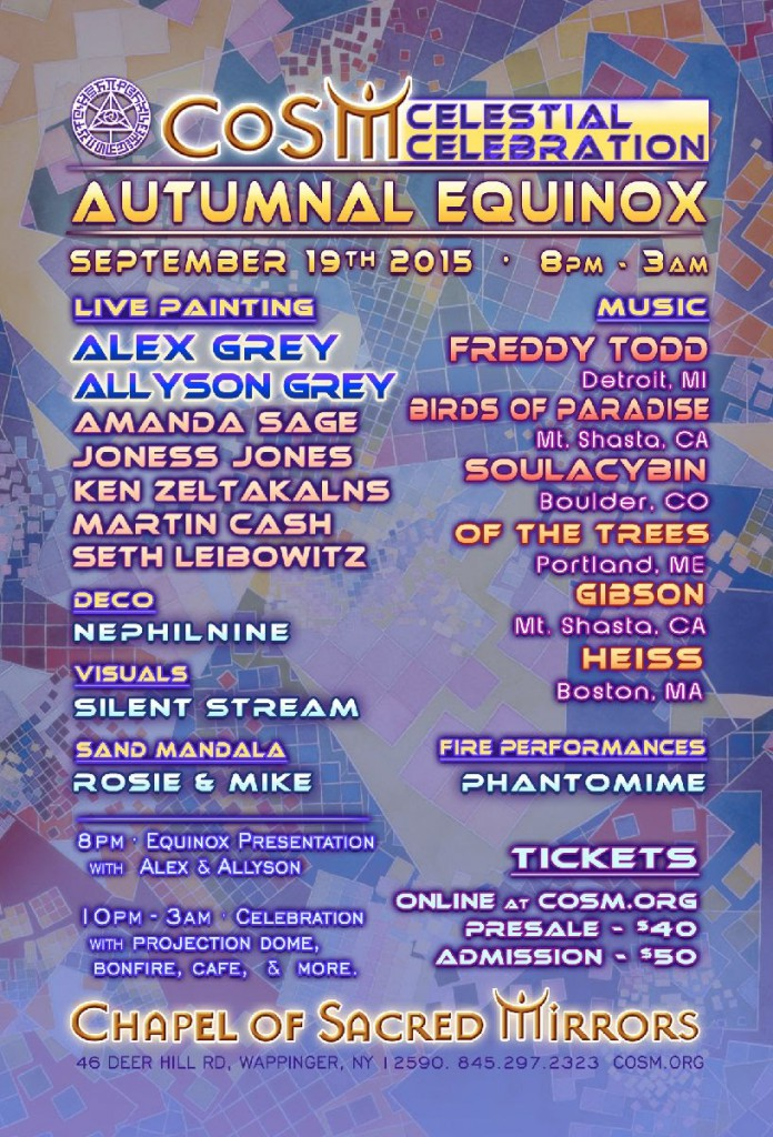 flyer cosm autumnal equinox celestial celebration 2015